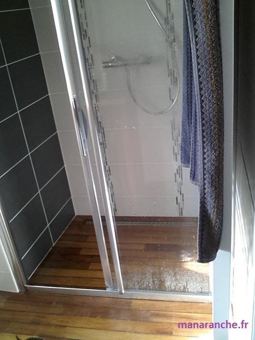 Manaranche salle de bain wc - Douche italienne bois ...